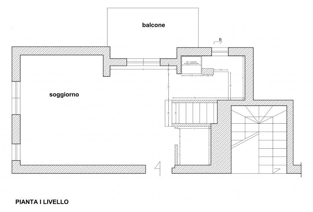Ristrutturazione Appartamento Roma - Stato di fatto - Pianta I livello