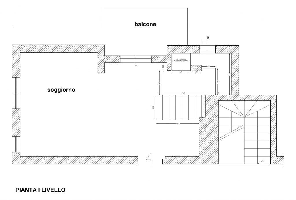 Ristrutturazione Appartamento Roma - Stato di progetto - Pianta I livello